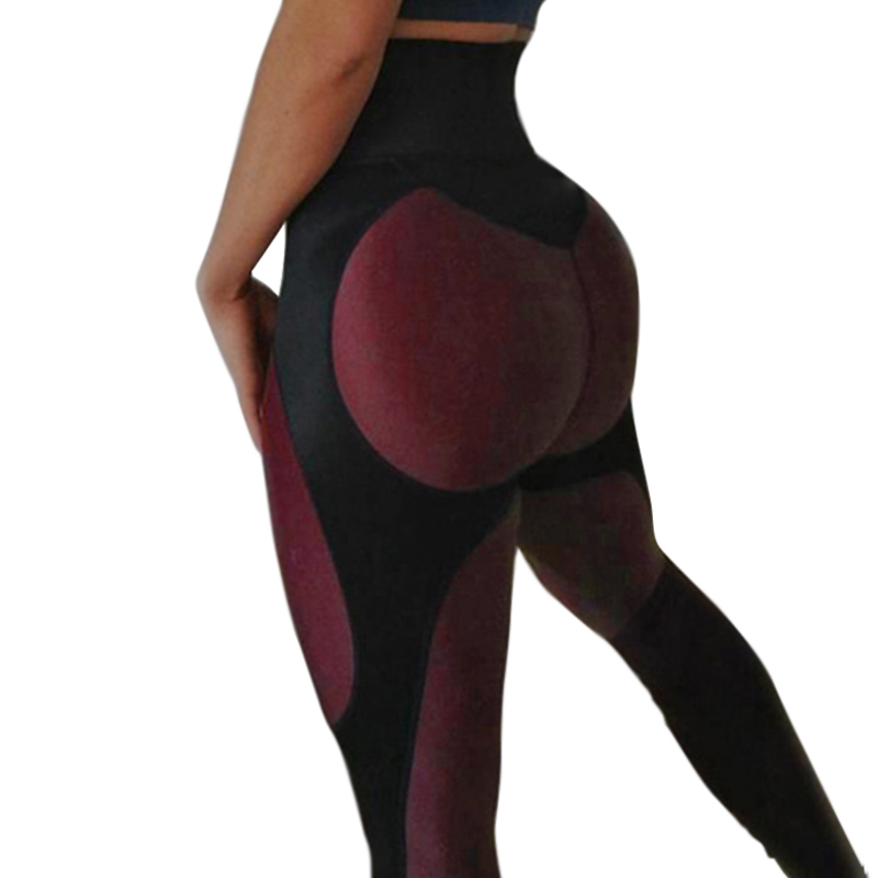 Auyiufar Patchwork Sportif Pantalon jeggings Femmes 2018 Athleisure push up jeggings Sport Remise En Forme Squat Preuve Pantalon Athleisure