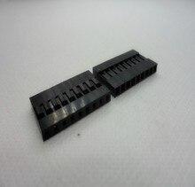 50 шт./лот 9 P 2.54 мм Однорядные Пластик Dupont голову джемпер Провода кабель Корпус женский Булавки разъем