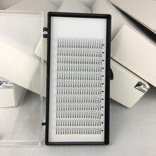 Me. lash 20 bandejas/lote atacado c e d onda 3d enxertado plantio cluster cílios coreia pré fabricado fãs 9mm a 15mm frete grátis