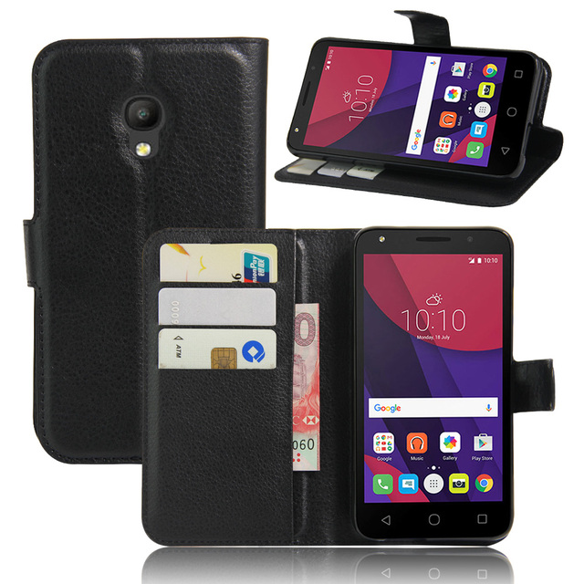 new style 88533 64b50 US $3.81 |Luxury Phone Funda Case For Alcatel Pixi 4 (5) 5045X 5045D 5.0  Inch Carcasa With Stand Flip Cover Wallet PU Leather Bags Skin-in Flip  Cases ...
