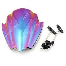 """7 colores universal para bmw para harley para ktm para yamaha 7/8 """"y 1"""" Montaje del manillar de la Motocicleta Parabrisas Windscherm"""