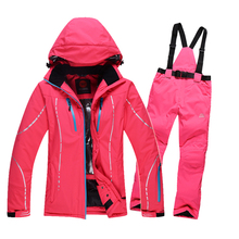 Free shipping Women ski suits jackets + pants, snowboard clothing, snowboard ski jacket Waterproof Breathable Wind Resistant