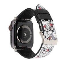 Кожаный ремешок для часов apple watch series 4 3 2 1 Микки Маус hello kitty ремешок для apple iwatch 44 мм 42 40 38 мм