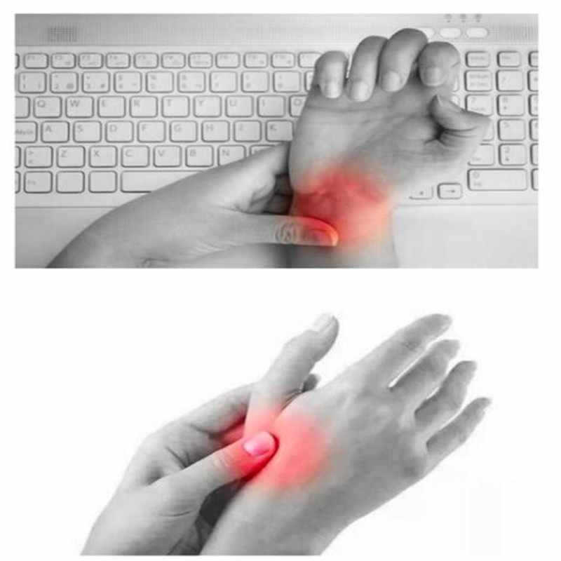 1 unidad de terapia magnética guantes de apoyo para el pulgar y la muñeca Gel de silicona Corrector de presión para la artritis guantes de masaje para aliviar el dolor