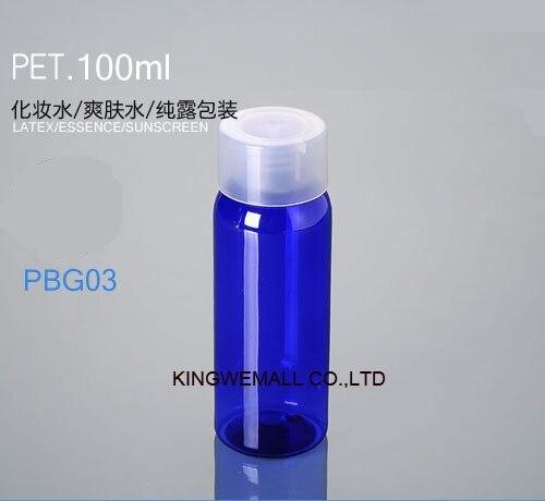 300 шт/партия 100 мл круглая ПЭТ бутылка, бутылочка для крема, лосьона, пластиковая бутылка PWG03
