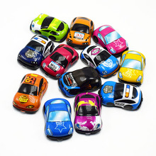 5PCS/LOT  PVC Super Mini Colorful cartoon Pull Back cars toys for kids gift