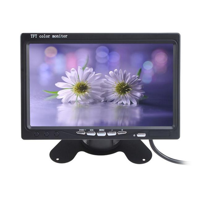 800x480 7 Pulgadas a Color TFT LCD Monitor de 2 Canales de Entrada de Vídeo Del Coche de Visión Trasera Del Monitor con Control Remoto
