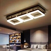 2017 Rushed Abajur Brightness Rectangle Living Room Bedroom Modern Led Ceiling Lights Remote Control Luminaires Darkening Lamp