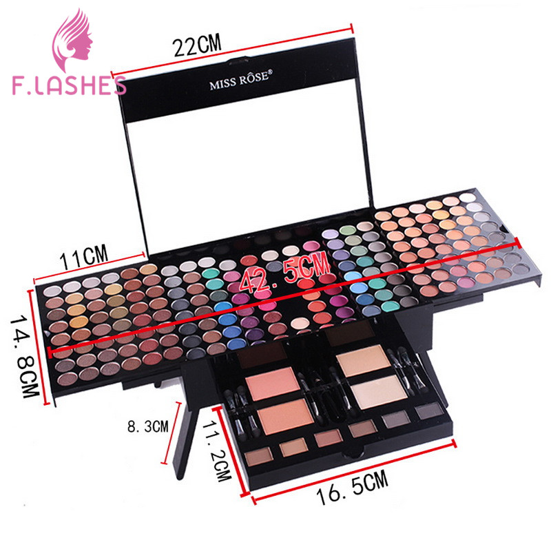 MISS ROSE 180 Color Makeup Blush Makeup Box Piano Box Eye Shadow Makeup box Face Blusher High Quality Face Blush Make Up miss rose plate of the piano box eye shadow makeup of dumb light of pearl tray blush powdery cake grooming powder cosmetics box