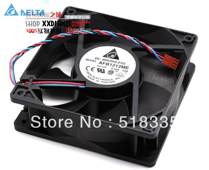 Original Delta AFB1212ME 12CM 120MM 12038 120*120*38MM 12V  0.4A  case axial case cooling fan delta afb1212hhe 12038 12cm 120 120 38mm 4 line pwm intelligent temperature control 12v 0 7a