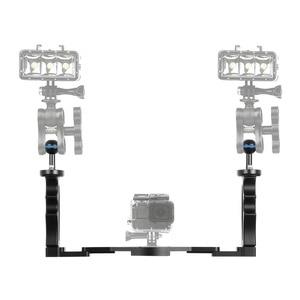 Image 4 - PULUZ จับถาดอลูมิเนียม Stabilizer RIG สำหรับถ่ายรูปใต้น้ำดำน้ำถาดสำหรับ GoPro DSLR สมาร์ทโฟน
