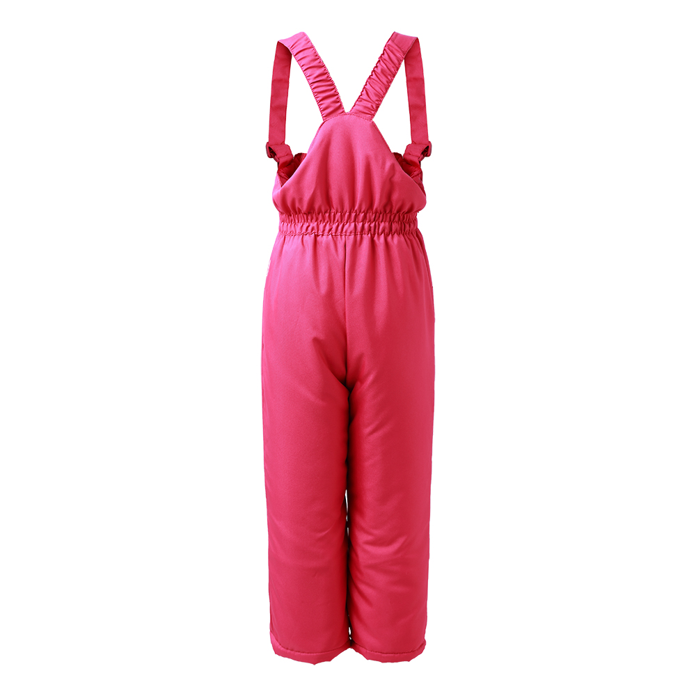 Image 2 - winter girls snow pants  2017 new moomin windproof overall Cotton Geometric Loose Zipper Fly Red waterproof  overall winter pant-in Overalls from Mother & Kids