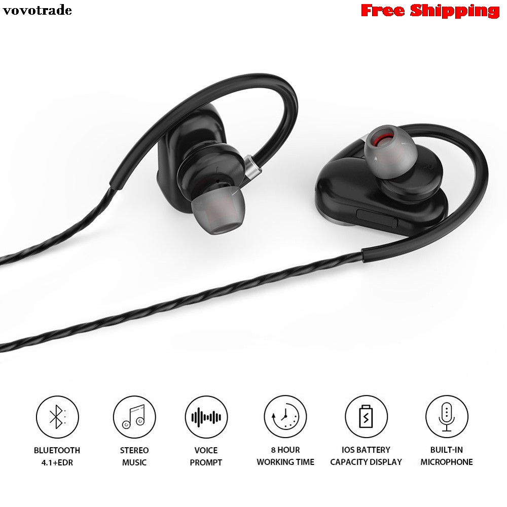 toopoot HIFI Bluetooth 4.1 Wireless Stereo Earphone Earbuds Sport Headset Headphone Mic for Smart Phones MP3 CAR Free Talking hbs 760 bluetooth 4 0 headset headphone wireless stereo hifi handsfree neckband sweatproof sport earphone earbuds for call music