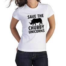 2016 Women's T-Shirt Harajikusave The Chubby Unicorns Punk Tumblr Funny Baratas Female for T Shirts Couple Clothes Top