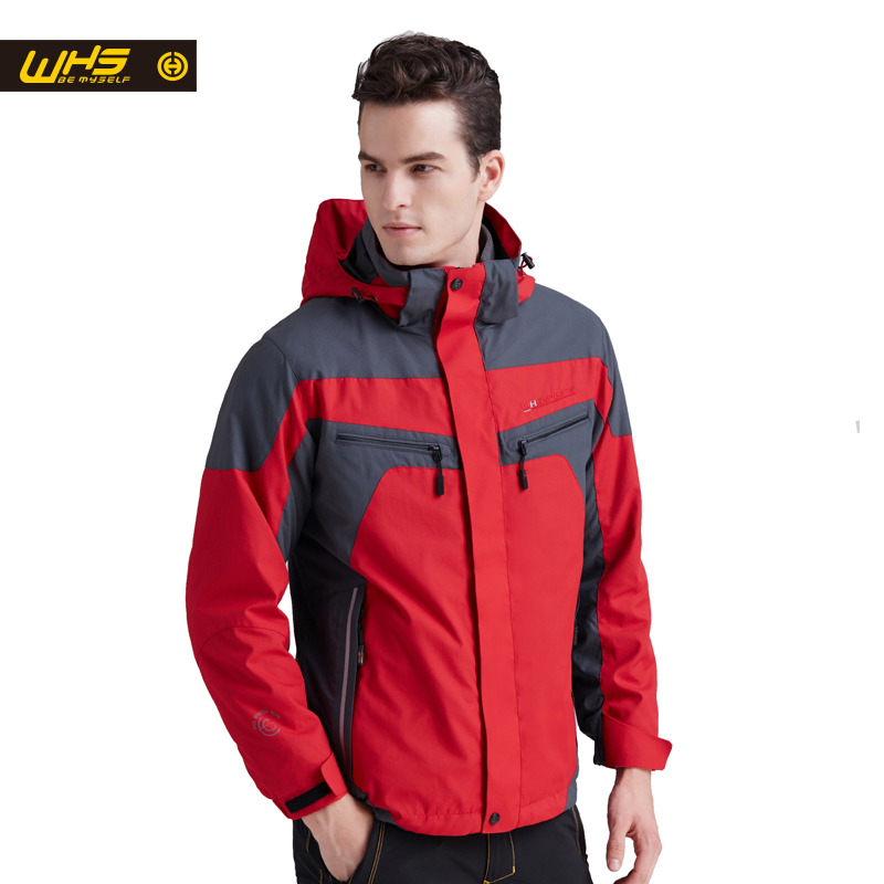 WHS 2018 Мужчин ветровка Весна отдых на природе нового мужского верхняя одежда водонепроницаемая куртка Тепловой пальто