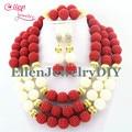 Pendientes de Perlas de La Boda Africana Joyería Nupcial Conjunto de La Boda Africana Sistema de La Joyería de Las Mujeres Collar Pulsera Pendientes de La Manera E1183