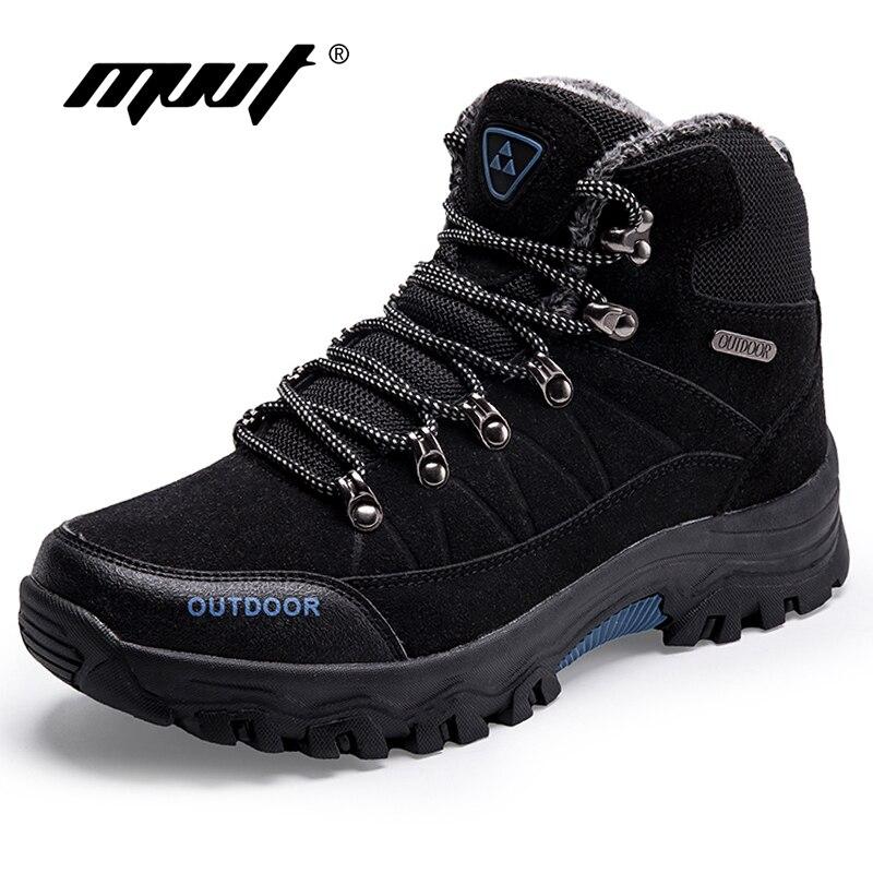 Super Warm Men Winter Boots Quality Suede Leather Men Boots Fur Plush Snow Boots Winter Sh