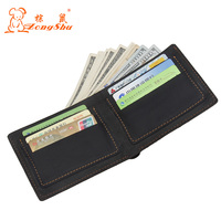Zongshu Genuine Leather Men Wallet Super Thin Leather Handmade Custom Name Slim Purse Men Short Small