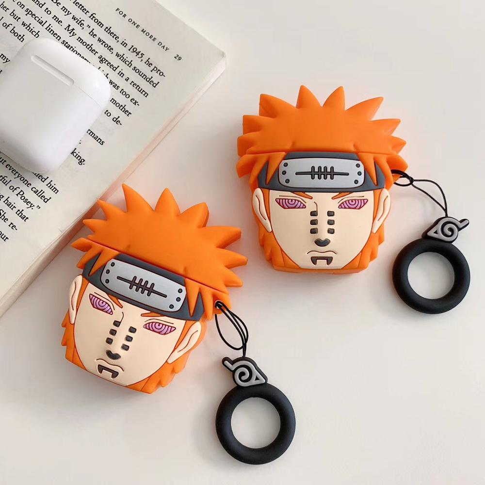 Image 2 - Japan Tide brand 3D Naruto wireless Bluetooth headset set Silicone Case For Airpods Earphone Protective Case Shockproof Cases-in Earphone Accessories from Consumer Electronics