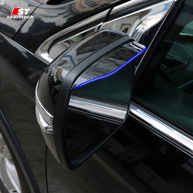 Car Styling Rear Mirror Covers For Ford Edge Rear View Rearview Mirrors Shade Stickers For Ford