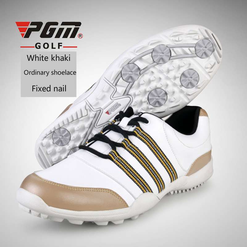 PGM Men Golf Shoes Fixed shoe spikes Sneakers non-slip Wear-resistant Waterproof breathable Golf Shoes Plus Size 39-45