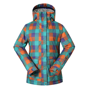 Free shipping  ski jacket skiing clothing female clothes to keep warm cold water repellent leisure triangle ski jacket