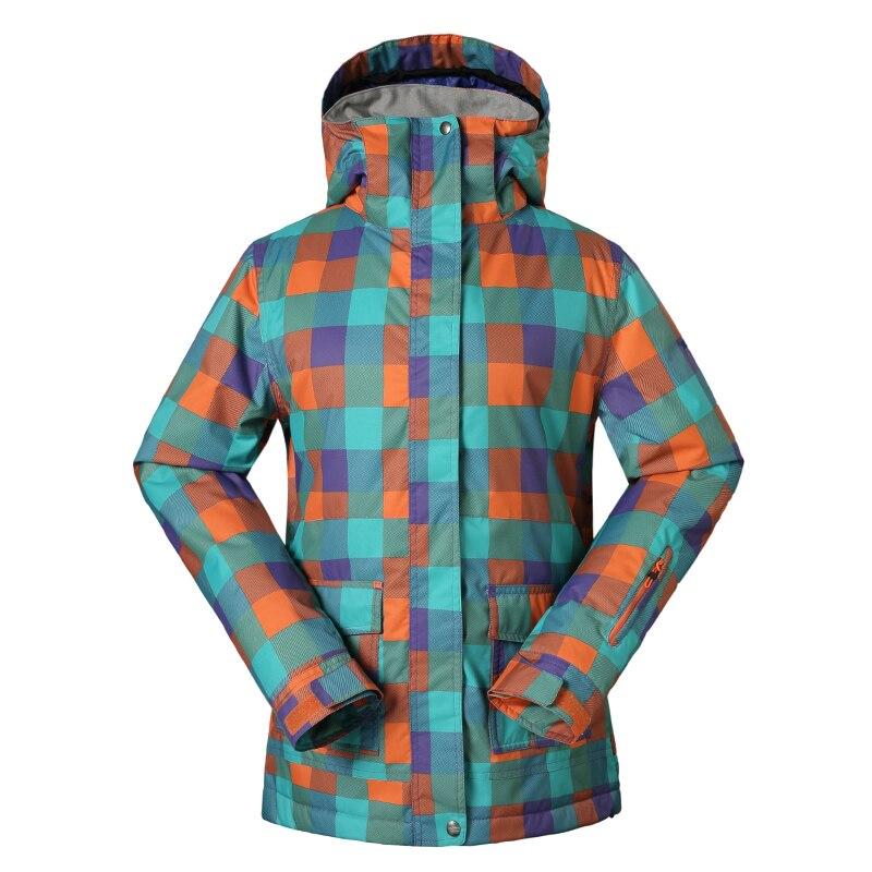 Livraison gratuite veste de ski vêtements de ski vêtements féminins pour garder au chaud froid imperméable loisirs triangle veste de ski
