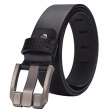 Genuine Leather Men's Casual Wallet And Cowhide Belt Enclosed in a Gift Box Wallet & Belt Set Slim Male Wallet N4470