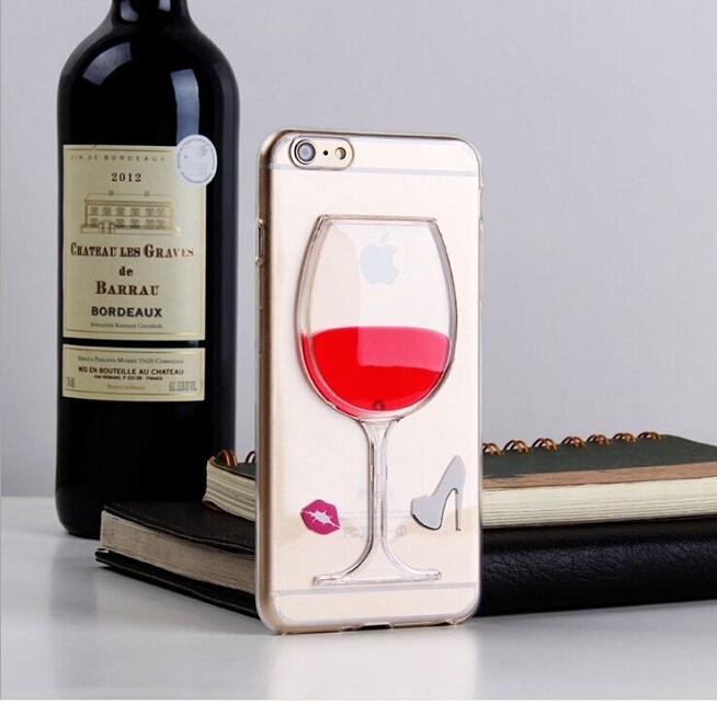 Phone Case For Samsung Galaxy j1 ace j3 A3 2016 Fundas Liquid Quicksand Red Wine Clear