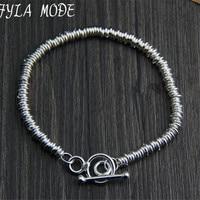 Fyla Mode Brand Fine Jewelry 100 925 Sterling Silver Bracelet For Men Classic Charm Bracelet Thai