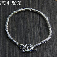Fyla Mode Brand Fine Jewelry 100 925 Sterling Silver Bracelet For Men Classic Charm Bracelet Thai