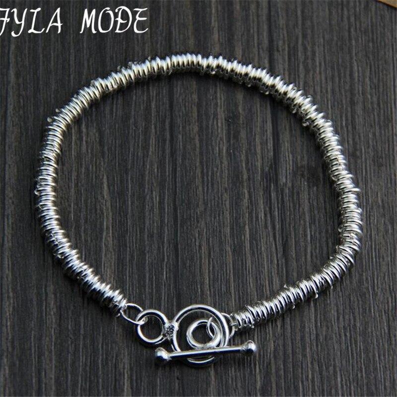 Fyla Mode Marque Fine Jewelry 100% 925 Bracelet En Argent Sterling Pour Hommes Classique Bracelet de Charme Bracelet Thai Argent Hommes WT004