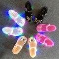 Мини-сандалии Melissa со светодиодной подсветкой и 3d-бабочкой; Новинка 2020 года; Обувь для девочек; Прозрачная обувь принцессы с бантом; Сандалии...