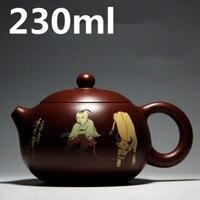 XI SHI Tea Pot 230ml Authentic YiXing Teapots Chinese Purple Clay Tea Set kettle Kung Fu Teapot Travel Tea Set Free Shipping
