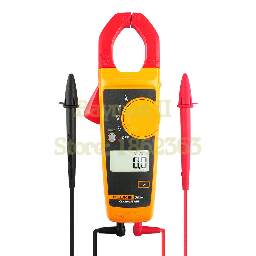 Fluke 302 AC 400A Digital Clamp Meter AC DC Voltage Tester with ohm Continuity Measurement