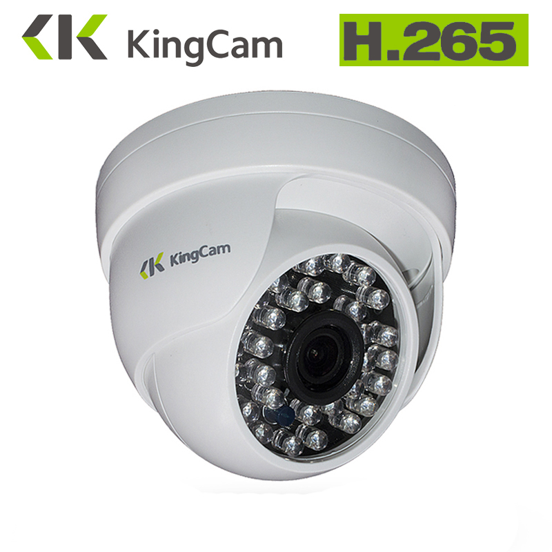 KingCam 2.8mm Wide Angle H.265 IP Camera Indoor Dome Camera Security 1080P FULL HD IP Camera IR Cut Filter 30 IR LED ONVIF C security ip camera outdoor h 264 2mp onvif 2 0 cctv full hd 1080p 2 0megapixel dome 2 8mm lens wide angle ir cut filter