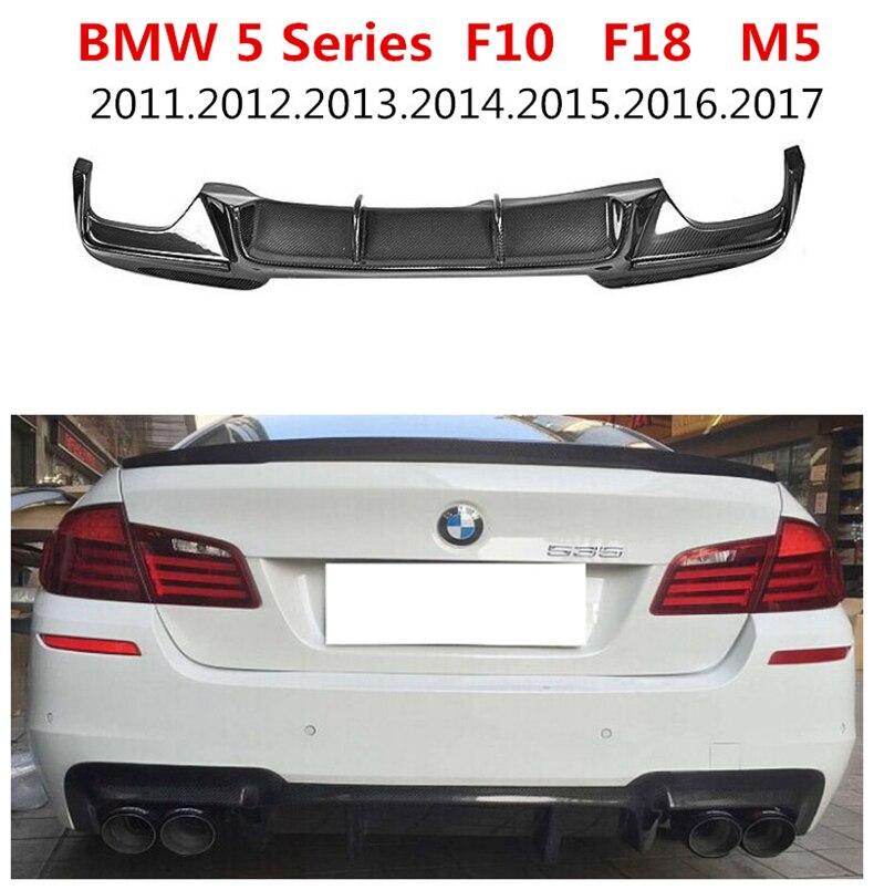 Carbon Fiber Rear Lip Spoiler For BMW 5 Series F10 F18 M5 2012.2013.2014.2015.2016.2017 Car Bumper Diffuser Auto Accessories
