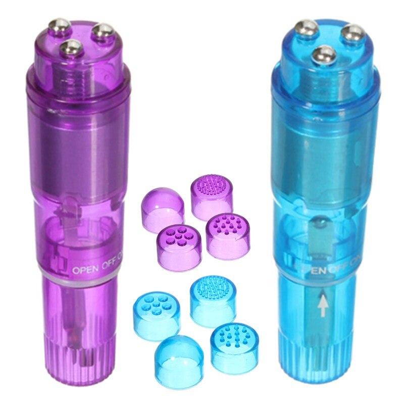 50pcs lot Mini Four Interchangeable Tips Vibrator Clit Vagina Bullet Vibrating Massager Wireless Sex Products for
