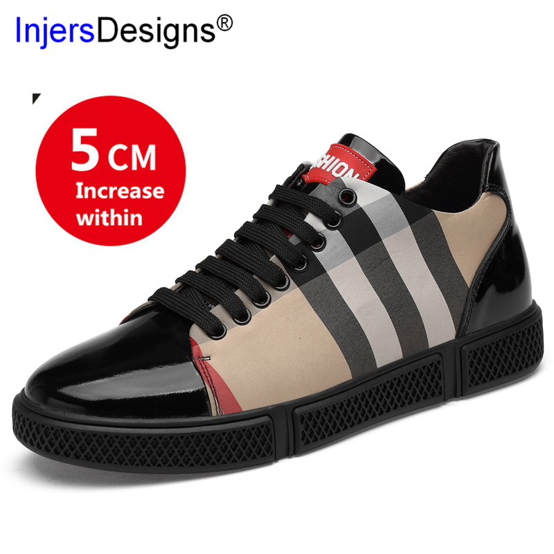 Men's Casual Shoes Generous New Arrival Men Shoes Height Increasing Sneakers Zapatos De Hombre Genuine Leather Skateboard Shoes Men Tenis Masculino Trainers Men's Shoes