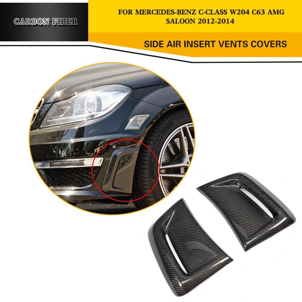 1 пара автомобиля из углеродного волокна, боковая воздушная вставка, вентиляционная крышка, накладка, боковая вентиляционная наклейка для