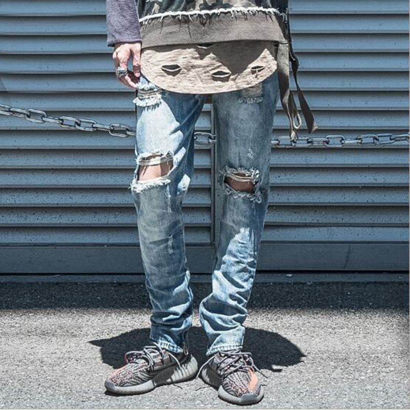 ФОТО 2016 hot fashion casual high quality straight type jeans men's cotton cowboy male jeans solid color trousers