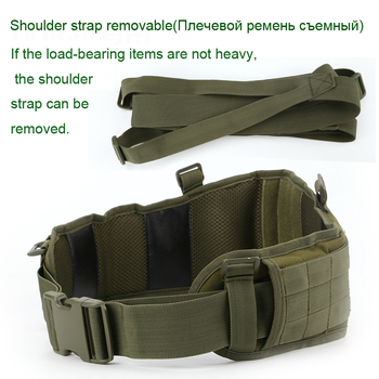 Tactical Molle Belt Men's Army Special 1000D Nylon military belt Convenient combat Girdle EAS H-shaped Adjustable Soft Padded 2
