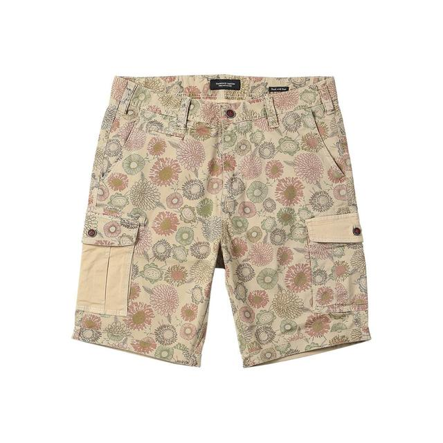 Men's Floral Shorts Cargo Hawaii Printed Loose Vintage