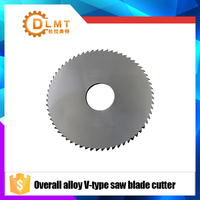 1pcs 90mm Saw Blade Circular Solid Carbide Round V Slitting Saw Cutter 90X22X6.5X36T 96degree Woodworking Cutting Tool