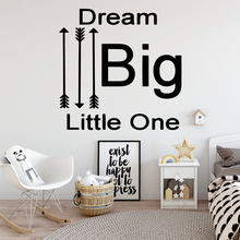 Diy dream big Wall Sticker Home Decoration Accessories For Living Room Bedroom Removable Decor Decals