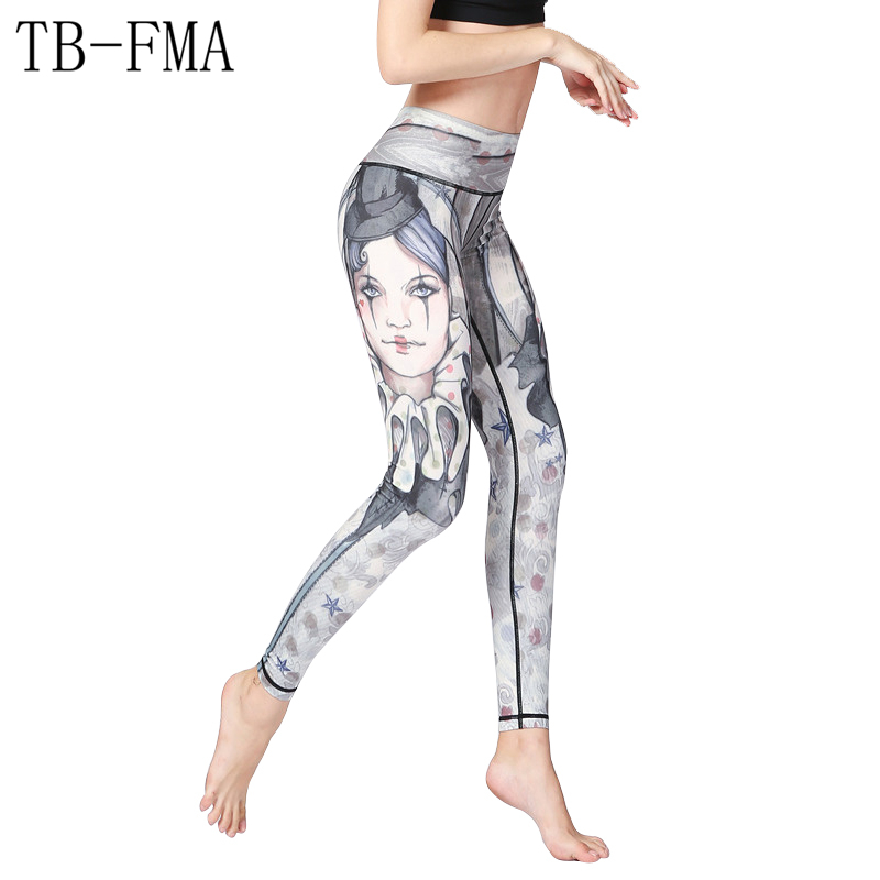 Women Yoga pants Top Quality High waist Floral Fitness Running Tights Push Hips Compression Sportswear Running Female Trousers