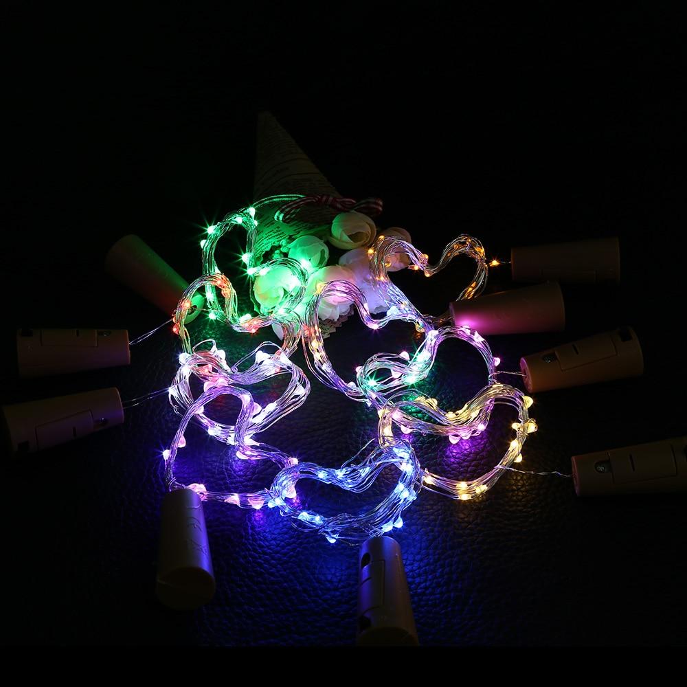 Şişe Dize ile bakır Dize Işık 1 m / 2 m Cork için Şekilli - Şenlikli Aydınlatma - Fotoğraf 5