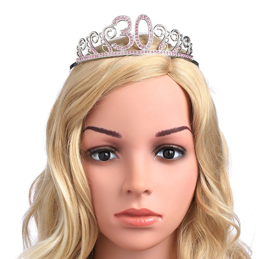 Aliexpress Buy Crystal Queen 30 Birthday Crown Tiara For Women Year Old Gifts Happy 30th Party Decorations Ideas Supplies From