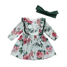 2019NEW Mother children girls Dresses 2 pcs long sleeve cotton baby