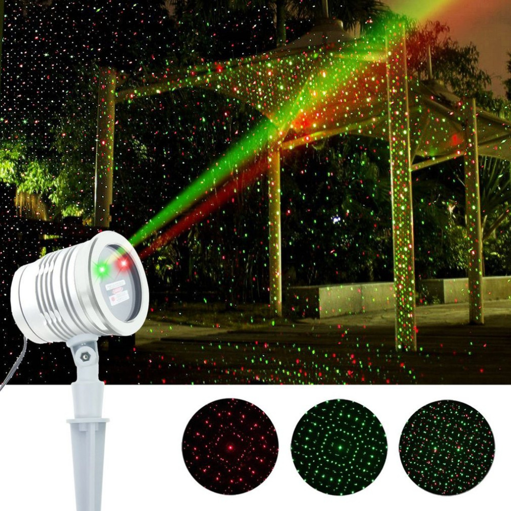 ICOCO Mini White Laser Light LASER STAR II Red Green Starry Sky Star Pattern Waterproof Laser Lamp For Building Decoration